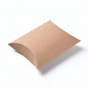 darilna embalaža za nakit, 16.5x13x4.2 cm, rjava b., 1 kos