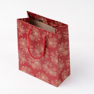 vrečka iz kartona 14x11 cm, indijansko rdeča, 1 kos