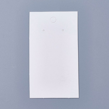 kartonček za uhane 9x5 cm, bele barve, 1 kos