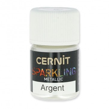 CERNIT Sparkling - mineralni prah, metallic silver, 5 g