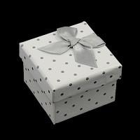 škatla za prstan 50x50x36mm, bela, 1 kos