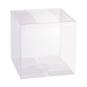 darila škatla akrilna, 12x12x12 cm, prozorna, 1 kos