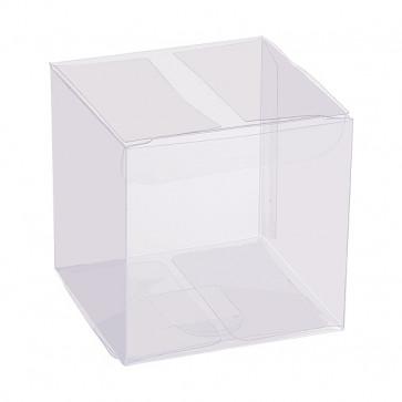 darila škatla akrilna, 6x6x6 cm, prozorna, 1 kos