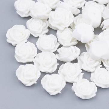 cvet - umetna masa, bel, 13x5 mm, 1 kos