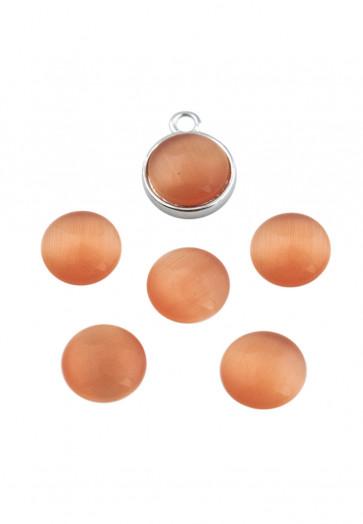 steklena kapljica 10 mm, oranžna, 1 kos
