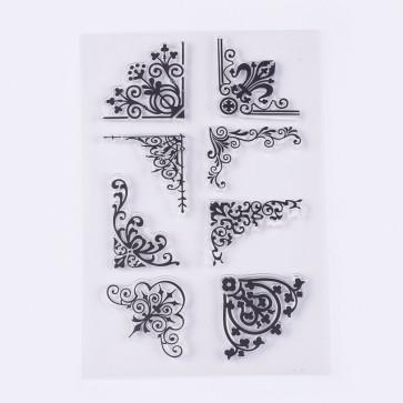silikonske štampiljke 31-39x30-38 mm, različni motivi, 1 komplet