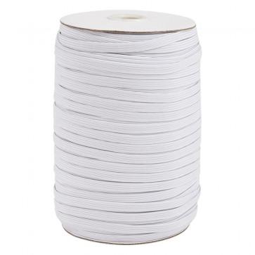 elastična vrvica, ploščata, širina: 5~6 mm, bele b., 1 m