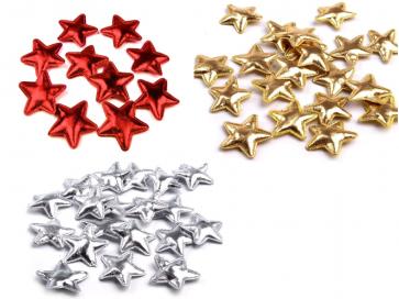 zvezda dekorativna, 3 cm, mix, 1 kos