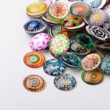 steklena kapljica 10 mm, ornamenti, 1 kos