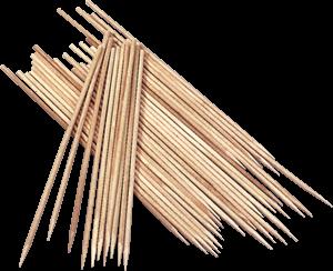 lesene palčke, 20 cm, debelina: 2 mm, 10 kosov
