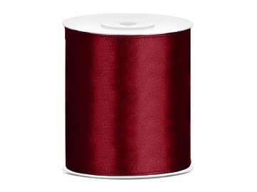 satenast trak temno rdeč, širina: 100 mm, dolžina: 25 m