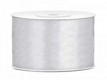 satenast trak srebrn, širina: 38 mm, dolžina: 25 m