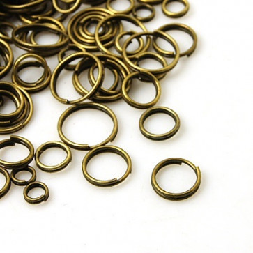 zaključni obroček dvojni 4~10mm, antik, brez niklja, 50 g