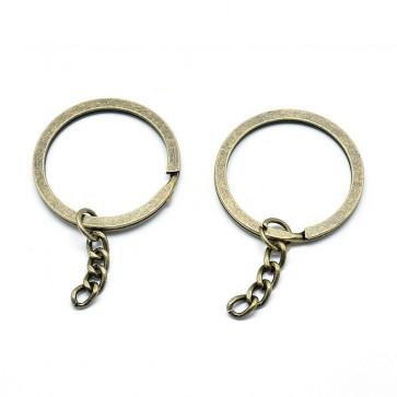 osnova za obesek (za ključe) 59 mm/34.5 mm, antik, 1 kos