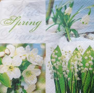 papirnate serviete 33x33 cm, 3-slojne, pomlad, 1 kos