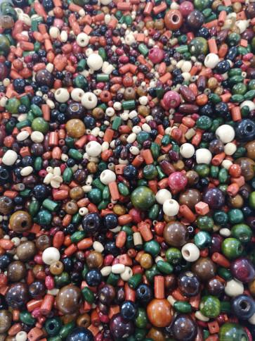 lesene perle, 3-16 mm, naraven mix, 50 g