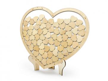 lesena knjiga gostov, srce, 44x37,5cm, 1 kos