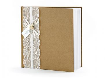 "knjiga gostov/album, ""vintage"" rjava, 20,5x20,5 cm, 1 kos"