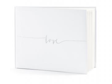 """knjiga gostov """"love""""/album, bela, 24x18,5cm, 22 strani, 1 kos"""