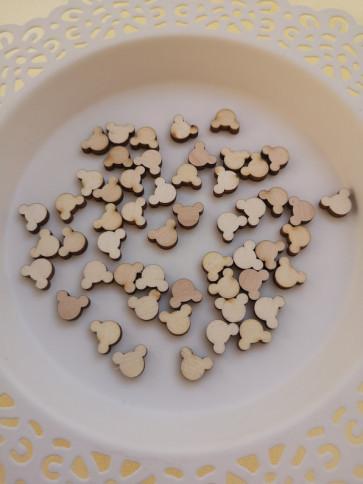 lesena kapljica - miki miška, cca 10 mm, naravna, 1 kos