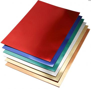 metalna folija - papir 280 g, 420x600 mm (A2), mix, 1 kos