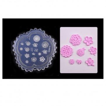 silikonski model, rože, 6,3x6,3 cm, 1 kos