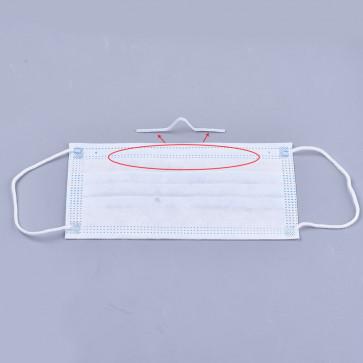 žica za obrazno masko - žica v ploščatem zaščitnem ovoju, širina: 2,7 mm, bele b., 1 m