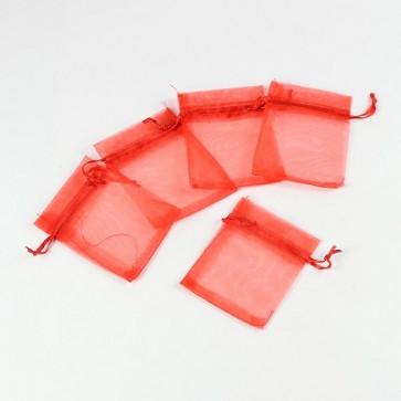 organza vrečke 7x9 cm, sv. rdeče, 1 kos