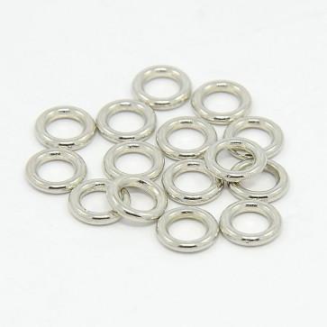 zaključni obroček - sklenjen 8 mm, srebrne barve, velikost luknje: 4.5 mm, 50 kos
