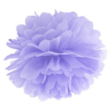 pompom krogla, svetlo vijolična, 25 cm, 1 kos
