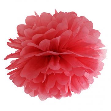 pompom krogla, rdeča, 25 cm, 1 kos