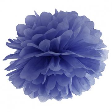 pompom krogla, mornarsko modra, 25 cm, 1 kos