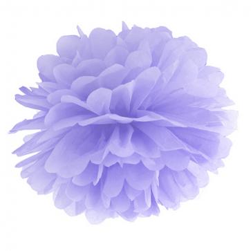 pompom krogla, svetlo vijolična, 35 cm, 1 kos