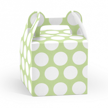 darilna embalaža, 8,7x8,7x12,5 cm, zelene b., 1 kos