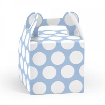 darilna embalaža, 8,7x8,7x12,5 cm, modre b., 1 kos