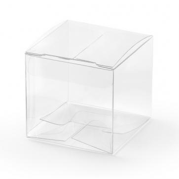 darilna škatla, 5x5x5cm, prozorna, 1 kos
