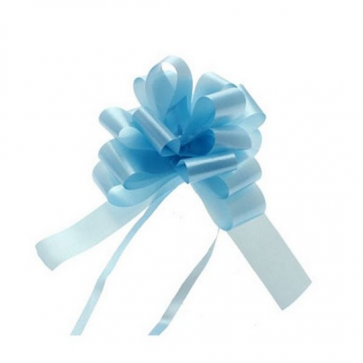 mašne na poteg, 12x18 cm, baby modra b., 1 kos