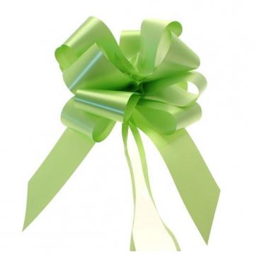 mašne na poteg, 15x18 cm, zelena b., 1 kos
