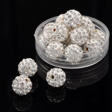 fimo perle s kristali Crystal, 10 mm, velikost luknje: 1.5 mm, 1 kos