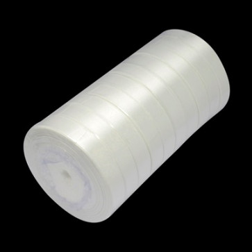satenast trak mlečno bel, širina: 12 mm, dolžina: 22 m