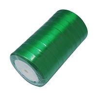 satenast trak zelen, širina: 12 mm, dolžina: 22 m