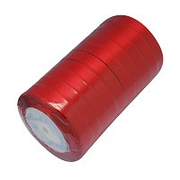 satenast trak rdeč, širina: 20 mm, dolžina: 22 m