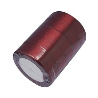 satenast trak temno rdeč, širina: 37 mm, dolžina: 22 m