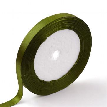 satenast trak olivne barve, širina: 6 mm, dolžina: 22 m