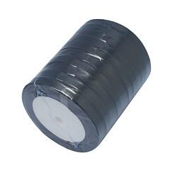 satenast trak črn, širina: 6 mm, dolžina: 22 m