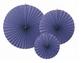 dekorativne rozete, mornarsko modra b., 23-40 cm, 1 komplet (3 kosi)