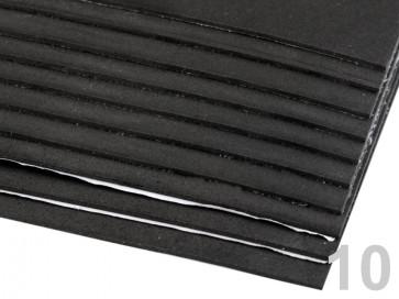 """penasta guma """"moosgumi"""", samolepilna, 20x30 cm, debelina: 1,5-2 mm, črna b., 1 kos"""
