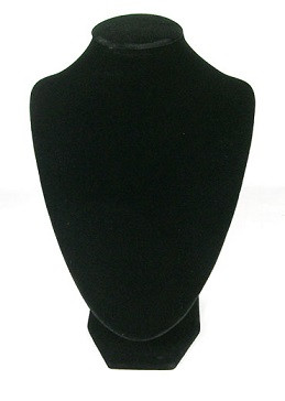 stojalo za nakit - dekolte, 17 x 25 cm, črne b., 1 kos