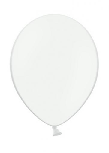 balon, bela, pastel, 30 cm, 1 kos