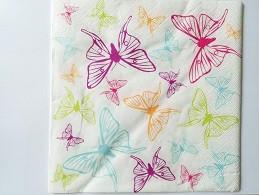 papirnate serviete 40x40 cm, 3-slojne, metulj, 1 kos